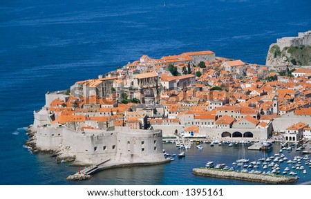 The old city of Dubrovnik - stock photo