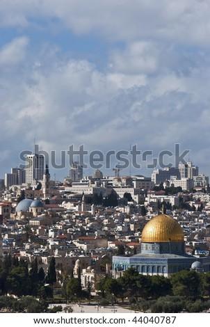 the old city of jerusalem - stock photo