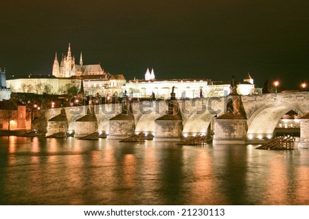 The old city of Prague, capital of Czech Republic