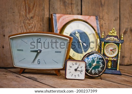 the old clock - stock photo