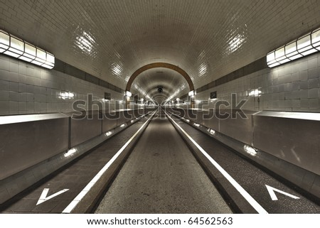 "The ""Old Elbtunnel"" in hamburg, Germany"