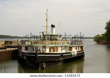The old excursion river ship