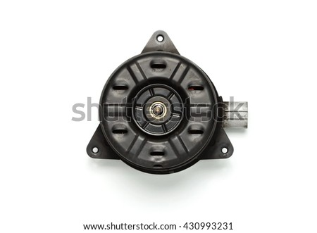 The old fan motor unit represent the car part concept related idea.