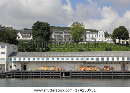 The old Fishing port of Sassnitz on the Baltic Sea island of Ruegen - stock photo