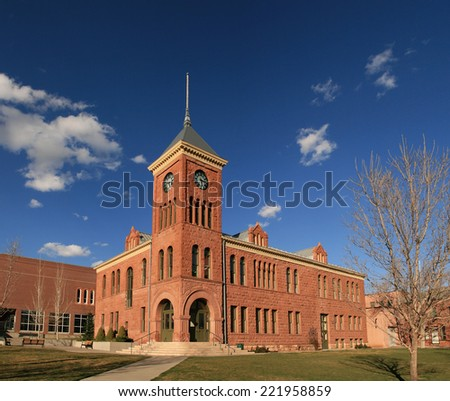 the old 1894 Flagstaff sandstone courthouse - stock photo