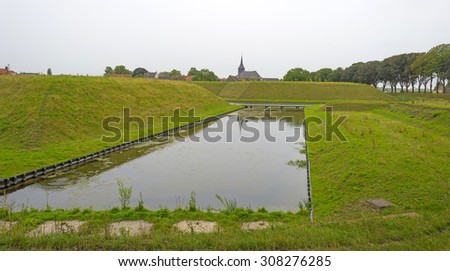 The old fortified town of Stevensweert