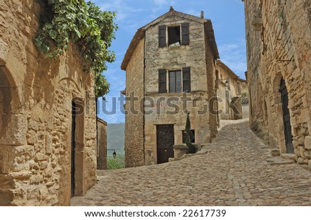 The Old French Village of Lacoste - stock photo