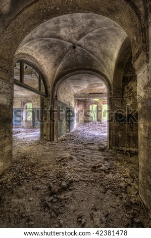 The old hospital - stock photo