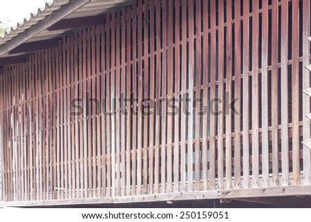 The old house in Bangkok, vintage style - stock photo