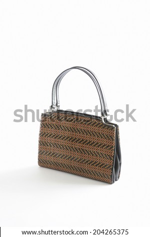 The Old Kimono Handbag In White Background