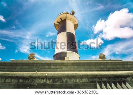 The old light house galley monument in Colombo, Sri Lanka - stock photo