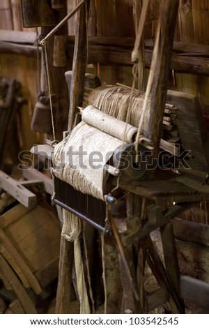 the old loom at Chiang Mai Thailand - stock photo