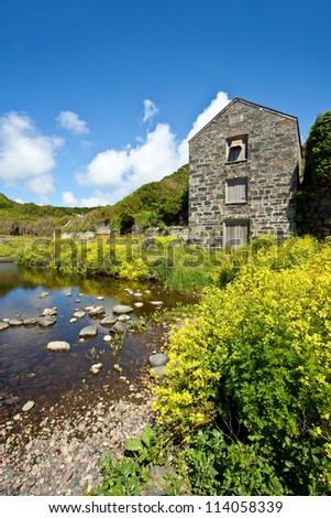 The old mill at Carleon Cove cornwall