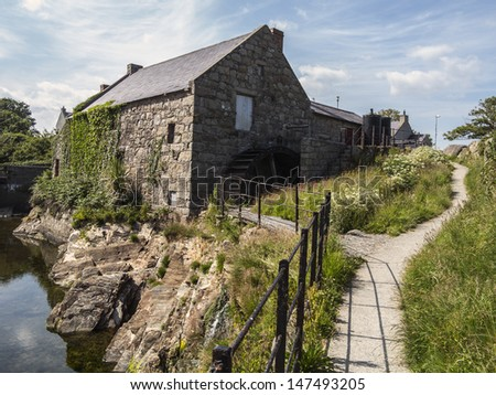 the old mill in Annalong Ireland - stock photo