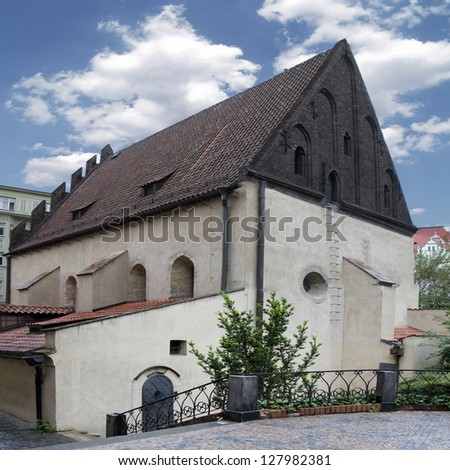 The Old-New Synagogue in Prague, Czech Republic - stock photo