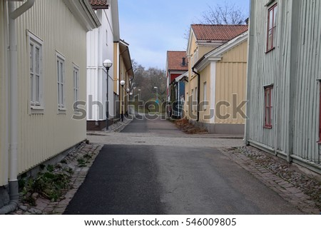 The old part of Vastervik.