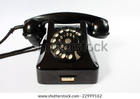 The old phone made in Poland. - stock photo