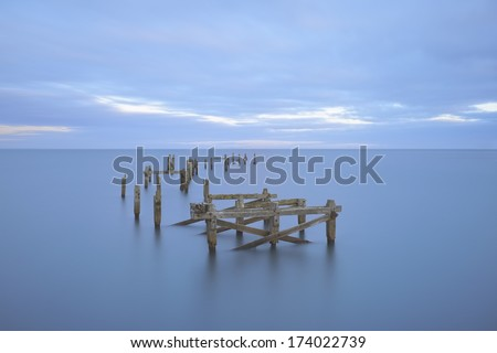 The old pier at Swanage - stock photo