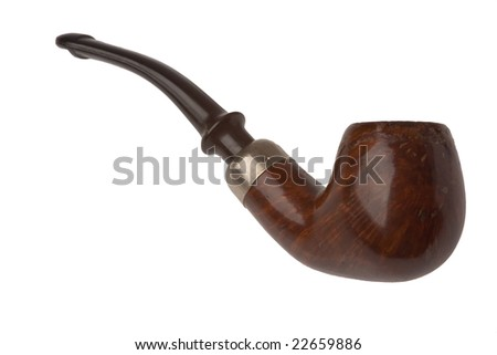 the old pipe on white background - stock photo