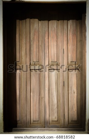 The Old Plain Door - stock photo