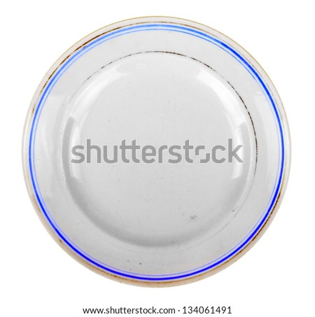 The old plate - stock photo