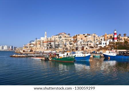 The old port in Jaffa. Tel-Aviv - stock photo