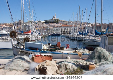 The Old Port, Marseille, France - stock photo