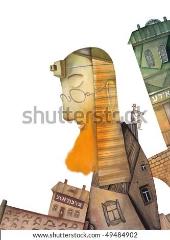 The old rabbi - stock photo