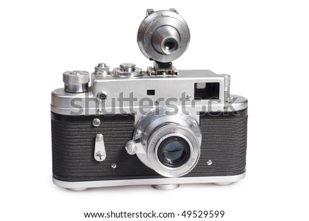 the old  range finder camera - stock photo