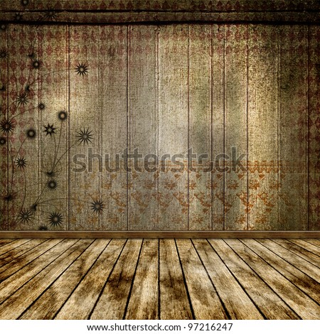 The old room. Grunge abstract background for a design. - stock photo