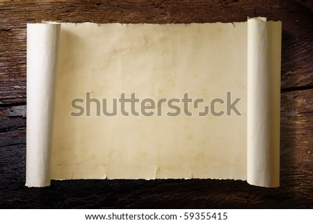 The old scorched tree and  old scroll - stock photo