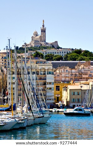 The old Sea-port of Marseille, France - stock photo