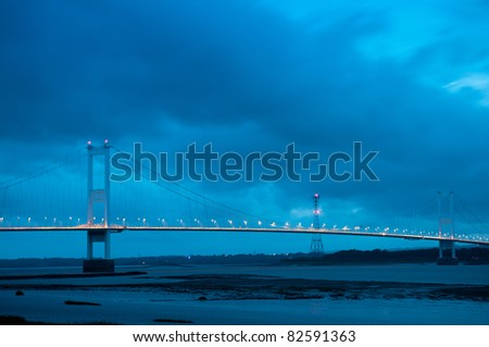 The old Severn Bridge,England - stock photo