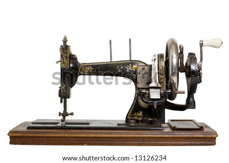 The old sewing machine - stock photo