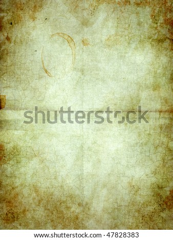 The old shabby paper with dirty stains - stock photo
