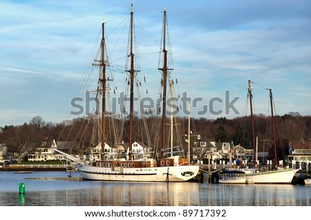 The Old Ship in Mystic Seaport - stock photo