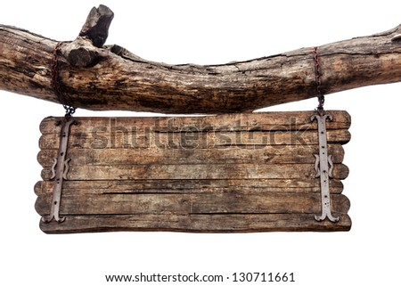 The old signboard - stock photo
