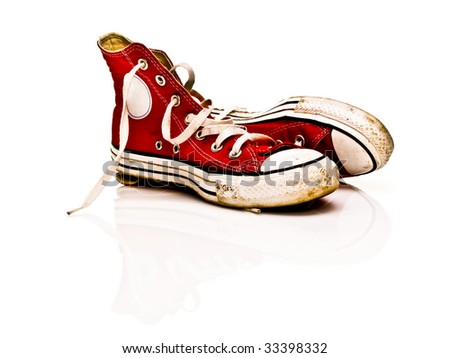 The old sneakers - stock photo