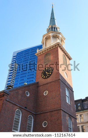 The Old South Meeting House in Boston, Massachusetts - USA