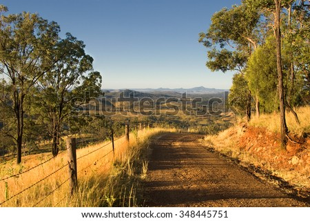 The old Spicers Gap Road leading to the Governors Chair in South-East Queensland, Queensland, Australia - stock photo