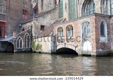 the old St. John's Hospital in Bruges, Belgium - stock photo