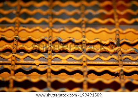 The old steel grating - stock photo