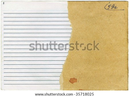 The old tattered notebook in a stripes. High detailed this image - stock photo