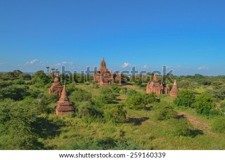 The old temple in Bagan, Myanmar, Burma