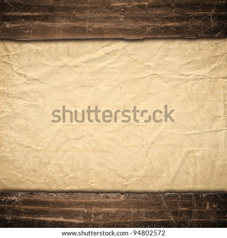 The old texture of a paper, is decorated in grunge style. Background in style vintage - stock photo