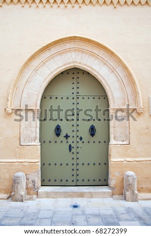 The old town house doorway at Mediterranean