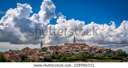 The old town of Buje, Croatia - stock photo