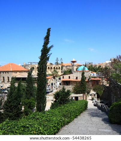 The old Town of Byblos, Lebanon - stock photo