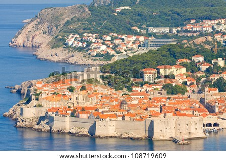 The Old Town of Dubrovnik, sunrise, early morning,  Croatia