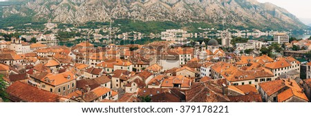 The old town of Kotor in Montenegro - stock photo